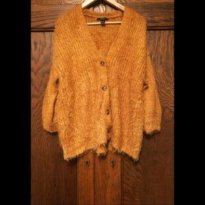 Fuzzy Golden Cardigan